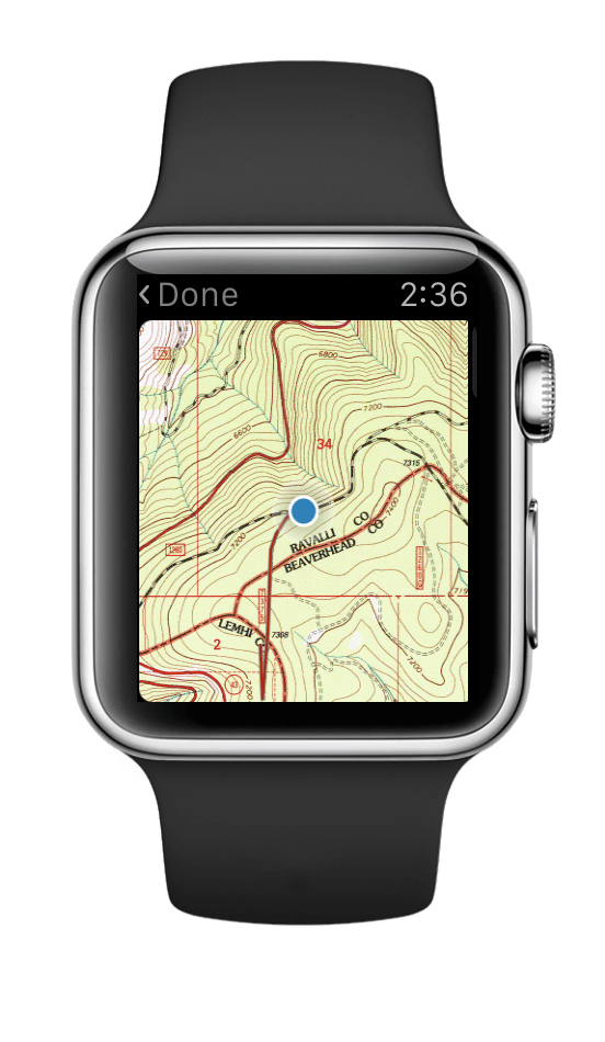 Gaia GPS on Apple Watch